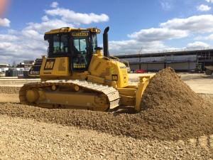 plant hire Large Komatsu Dozer in Action