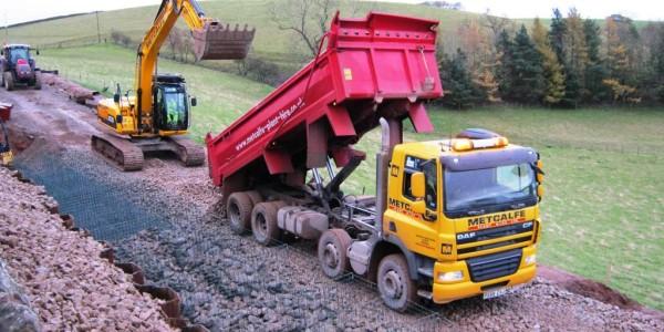 Metcalf Plant Hire Contracting Division Road Preperation