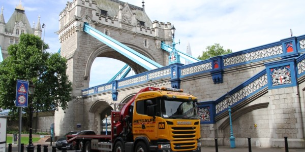 Metcalfe Plant Hire Road Haulage Division by Tower Bridge