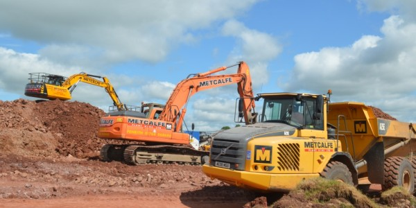 plant Hire Large Excavation Works in Progress