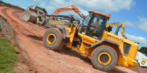PLant Hire Cumbria Loading Shovel at Work