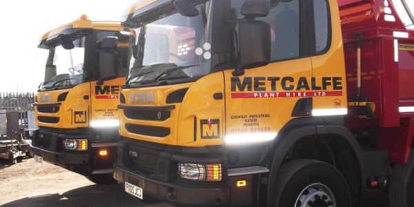 Metcalfe Plant Hire aggregate transport